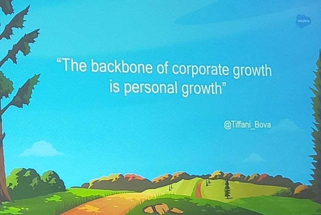 The backbone of corporate growth is personal growth.