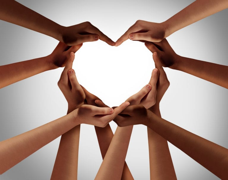 diversity and inclusion heart hands